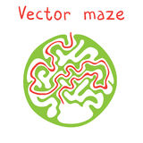 Green vector maze Royalty Free Stock Images