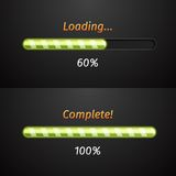 Green vector progress bars Royalty Free Stock Photo