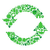 Green vector recycle icon Stock Image