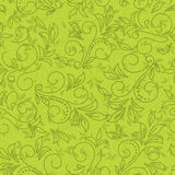 Green vector seamless floral pattern Royalty Free Stock Images