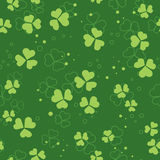 Green vector seamless pattern with trefoils Stock Photos