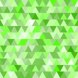 Green vector seamless pattern with triangles. Stock Photography