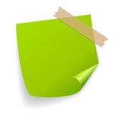 Green vector sticker Royalty Free Stock Image
