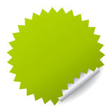 Green vector sticker Stock Image