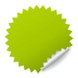 Green vector sticker Stock Image