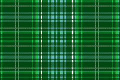Green vector tartan Stock Image