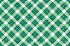 Green vector tartan Stock Images