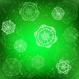 Green vector winter background Royalty Free Stock Images