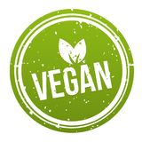 Green Vegan Badge - Vegan Button. Eps10 Vector Royalty Free Illustration