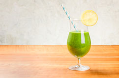 Green vegetable cocktail with copy space Royalty Free Stock Photography