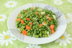 Green vegetable dish Stock Images
