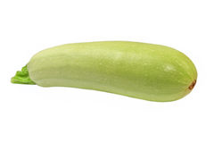 Green vegetable marrow.Isolated. Royalty Free Stock Images