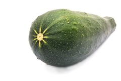 Green vegetable marrow or zucchini. Isolated on white Stock Images