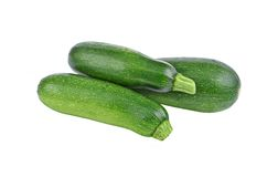 Green vegetable marrow (zucchini). Isolated on white background Stock Photography
