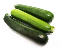 Green vegetable marrows Royalty Free Stock Images