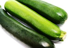 Green vegetable marrows Royalty Free Stock Image