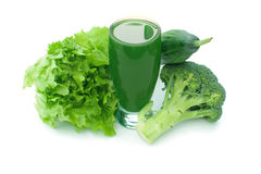 Green vegetable smoothie Stock Photography