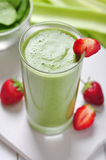 Green vegetable smoothie Royalty Free Stock Image