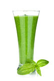 Green vegetable smoothie Stock Photos