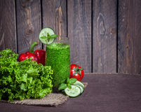 Green vegetable smoothie Royalty Free Stock Photography