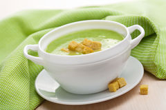 Green vegetable soup Royalty Free Stock Photo