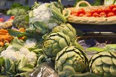 Green vegetables. Artichoke. Stock Photo