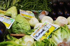 Green vegetables background and market royalty free stock photos