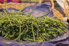 Green vegetables. Beans. Royalty Free Stock Image