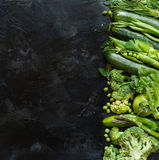 Green vegetables border Royalty Free Stock Images