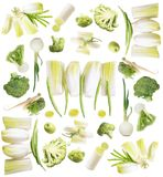 Green vegetables collection Stock Image