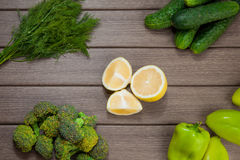 Green vegetables Royalty Free Stock Images