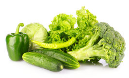 Green vegetables isolated Stock Photos