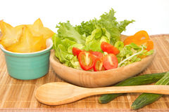green vegetables salad with star fruit Stock Photography