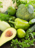 green vegetables. Stock Images