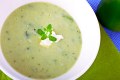 Green soup Royalty Free Stock Image