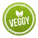 Green Veggy Badge - Vegan Button. Eps10 Vector. Green Veggy Badge - Vegan Button. Eps10 Vector label Royalty Free Illustration