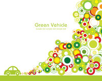 Green Vehicle. Great idea of environmentally friendly concept background for your website, powerpoint, leaflet etc Royalty Free Stock Images