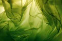 Green veil. Green gauze filtering soft light Royalty Free Stock Images