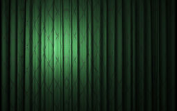 Green velvet curtain opening scene royalty free stock photo