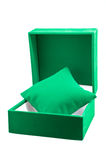 Green Velvet Jewelry Gift Box Royalty Free Stock Photography