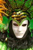 Green Venice Mask, Carnival. Royalty Free Stock Photos