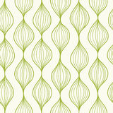 Green vertical ogee seamless pattern background Stock Images