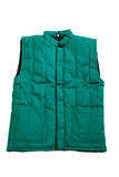 Green vest. A green vest isolate on white background stock image