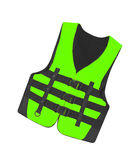 Green vest isolated Royalty Free Stock Photo