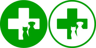 Green veterinary icons Royalty Free Stock Photo