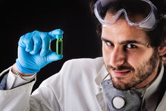 Green vial discovery Stock Photo