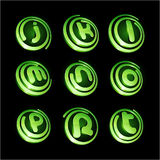 Green vibrant logo set. Stock Images