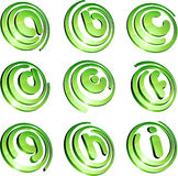 Green vibrant logo set. Royalty Free Stock Photography