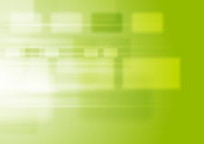 Green vibrant tech background with squares. Green vibrant tech background with blurred squares. Vector sci-fi abstract design Royalty Free Stock Photo