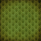 Green victorian damask Stock Images